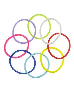 Haarelastieken set van 8 stuks multicolor