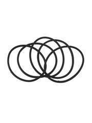 Goudhaartje Haarelastieken set van 5 stuks rubber zwart