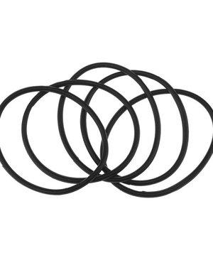Haarelastieken set van 5 stuks rubber zwart