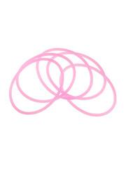 Goudhaartje Haarelastieken set van 5 stuks rubber roze