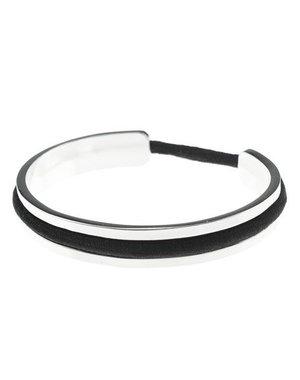 Luxe armband met haarelastiek zilverkleurig