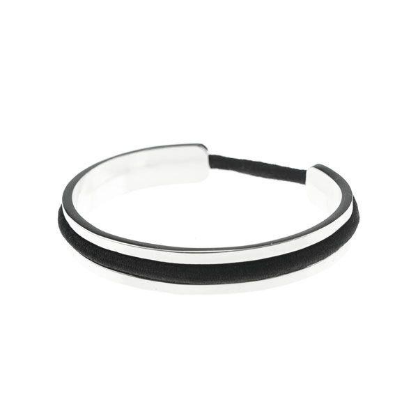 Goudhaartje Luxe armband met haarelastiek zilverkleurig