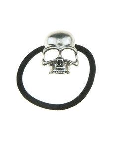 Goudhaartje Haarelastiek skull zilverkleurig