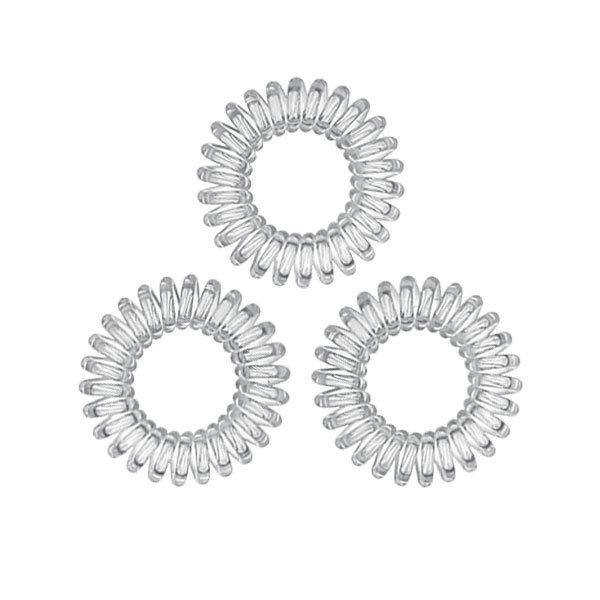 Goudhaartje Kabel haarelastiek transparant klein 3 stuks