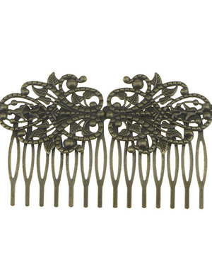 Haarkam sierlijk vintage bronskleurig