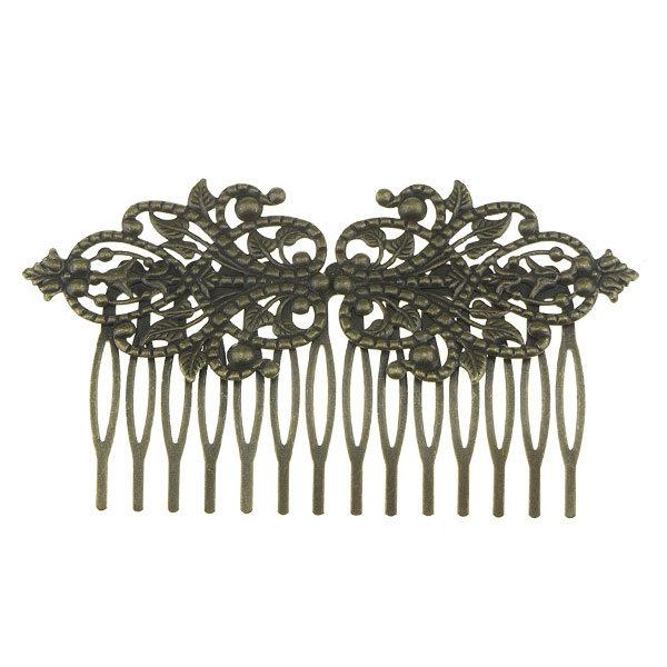 Goudhaartje Haarkam sierlijk vintage bronskleurig