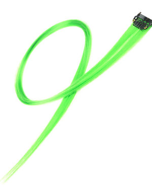 Haarlok met een clip large in de kleur groen
