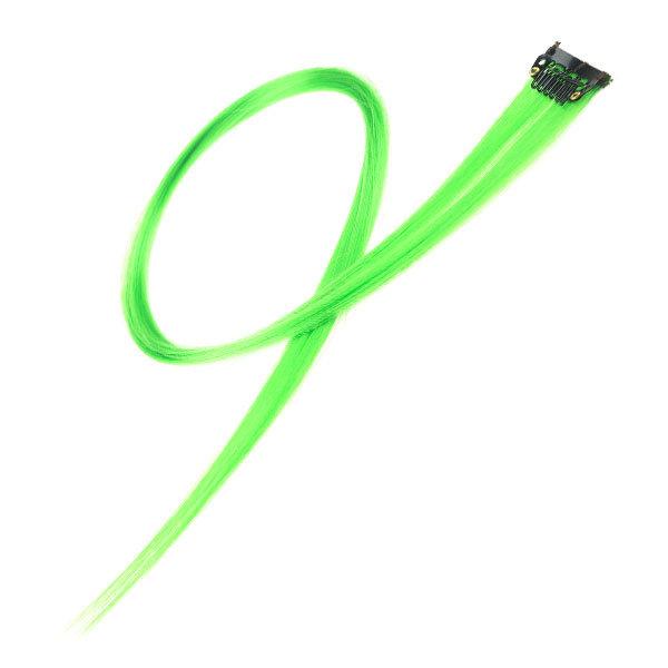 Goudhaartje Haarlok met een clip large in de kleur groen