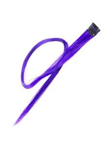 Goudhaartje Haarlok met een clip large in de kleur paars