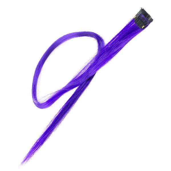 Haarlok met een clip large in de kleur paars