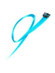 Goudhaartje Haarlok met een clip large in de kleur lichtblauw