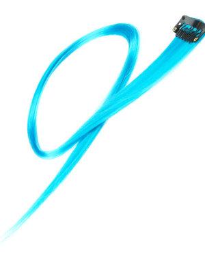 Haarlok met een clip large in de kleur lichtblauw