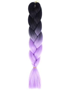 Kanekalon vlechthaar paars zwart