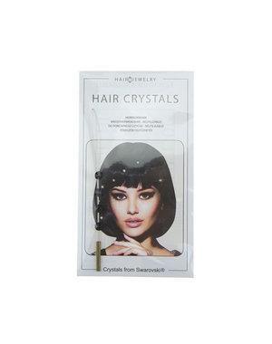 Haarkristallen Jwelu blinx bling crystal kleur zwart