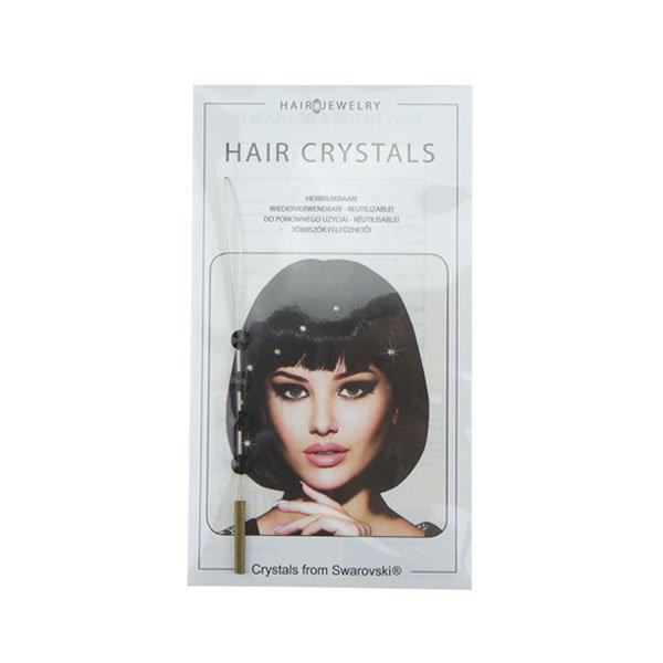 Jwelu Haarkristallen Jwelu blinx bling crystal kleur zwart