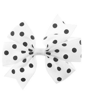 Haarstrikje polkadot in de kleur wit