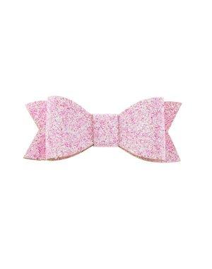 Haarstrikje met glitters in de kleur roze