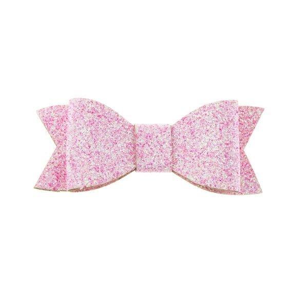 Goudhaartje Haarstrikje met glitters in de kleur roze