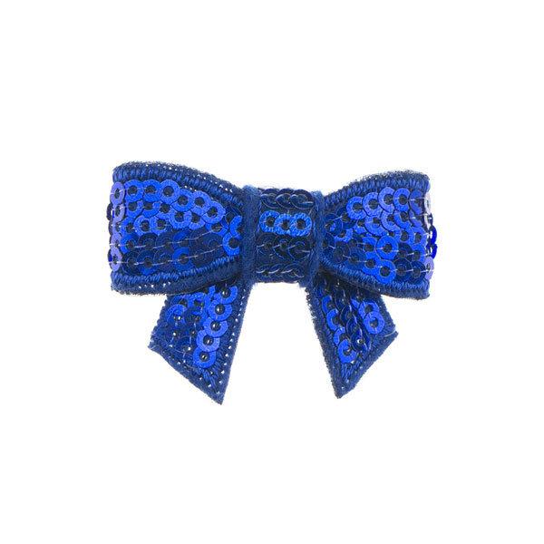 Haarstrikje klein pailletten in de kleur donkerblauw