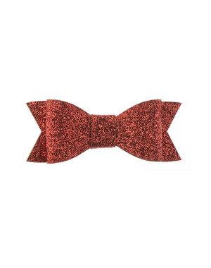 Haarstrikje met glitters in de kleur rood