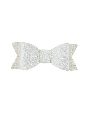 Goudhaartje Haarstrikje met glitters in de kleur wit