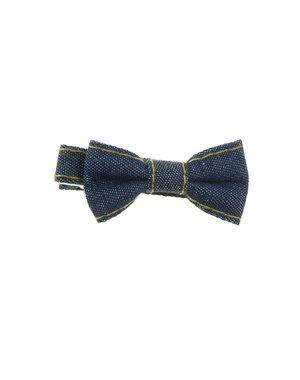 Haarstrikje klein spijkerstof blauw