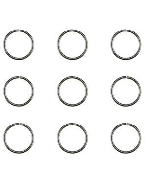 Hair rings set 9 stuks zilverkleurig