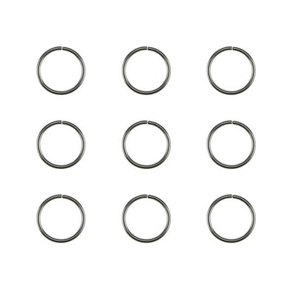 Goudhaartje Hair rings set 9 stuks zilverkleurig