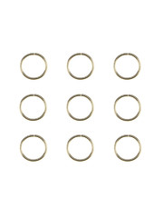 Goudhaartje Hair rings set 9 stuks goudkleurig