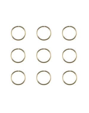 Hair rings set 9 stuks goudkleurig