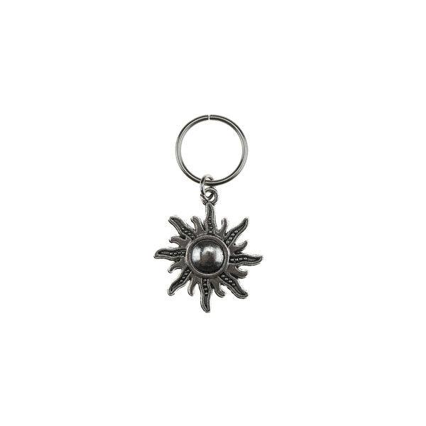 Goudhaartje Hair ring met bedel zon zilverkleurig