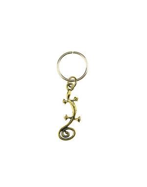 Hair ring met bedel salamander goudkleurig