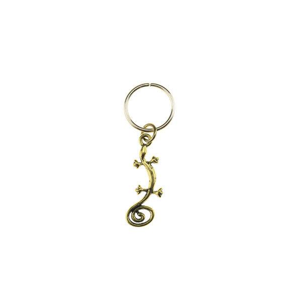 Goudhaartje Hair ring met bedel salamander goudkleurig