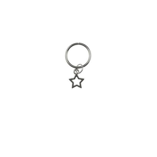 Goudhaartje Hair ring met bedel ster zilverkleurig