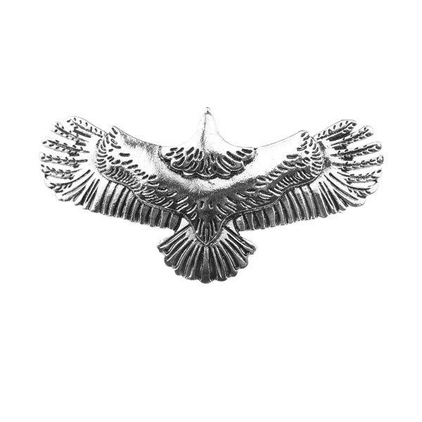 Goudhaartje Patent speld adelaar zilverkleurig