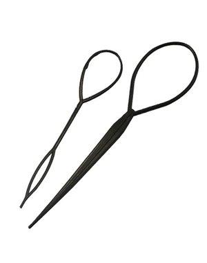 Topsy Tail in de kleur zwart set van 2 stuks