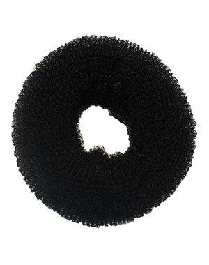 Haardonut rond in de kleur zwart per stuk
