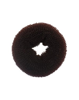 Haardonut rond in de kleur bruin per stuk