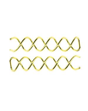 Haarspiraal voor haar opsteken set van 2 stuks goudkleurig