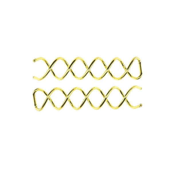 Goudhaartje Haarspiraal voor haar opsteken set van 2 stuks goudkleurig