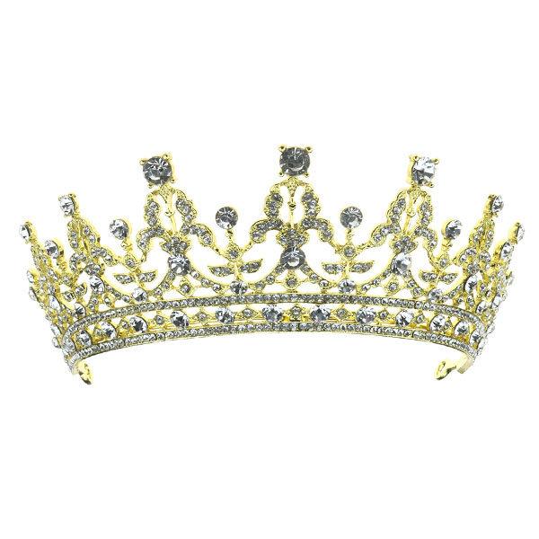 tiara kristallen goudkleurig kroon