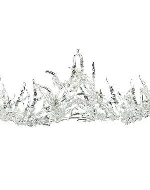 Tiara ice queen zilverkleurig