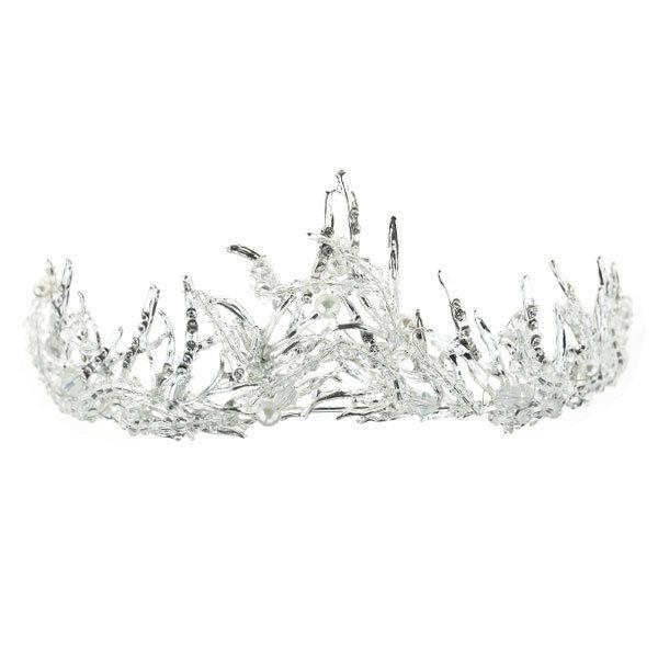 Goudhaartje Tiara ice queen zilverkleurig