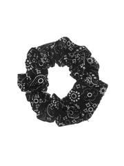 Goudhaartje Scrunchie zwart met wit motief