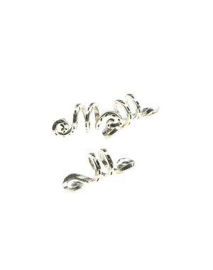 Dreadlock bead 3 stuks kronkel zilverkleurig
