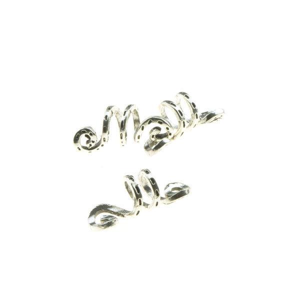 Goudhaartje Dreadlock bead 3 stuks kronkel zilverkleurig