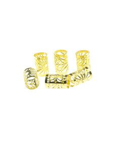 Goudhaartje Dreadlock bead cuff 6 stuks zonnestralen goudkleurig