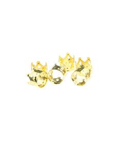 Goudhaartje Dreadlock bead cuff 6 stuks kroon goudkleurig