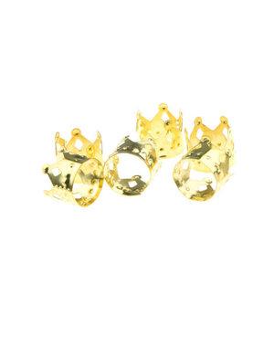 Dreadlock bead cuff 6 stuks kroon goudkleurig