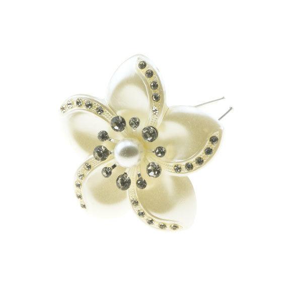 Goudhaartje Haarpin bloem crèmekleurig
